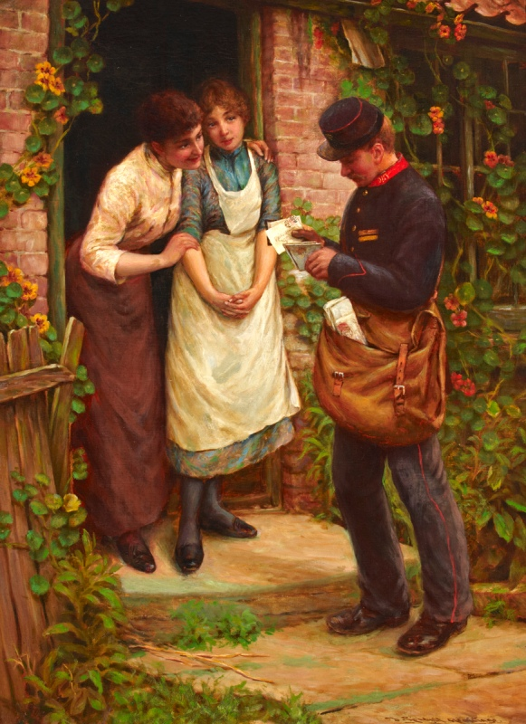 Painting titled 'The Postman', 1891